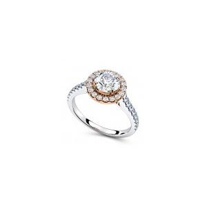 Verlobungsring VR09 750er Wei-/Rotgold - 8180