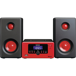 Lenco Micro-Hifi-Anlage MC-020 rot schwarz/rot