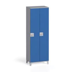 Zweiteiliger kleiderschrank 1750 x 600 x 400 mm, grau/blau