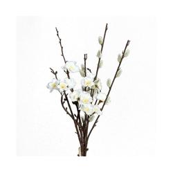 Kunstblume Pfirsichblüten-Weidenkätzchen, VBS, 43 cm braun