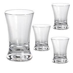 GIMEX Schnapsglas Campinggeschirr Mehrweg Kunststoff Schnapsglas klar 4 tlg. Set 4cl (4-tlg), Kunststoff