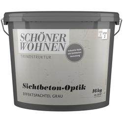 SCHÖNER WOHNEN-Kollektion Spachtelmasse Sichtbeton-Optik Effektspachtel grau, 16 kg