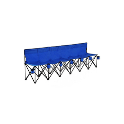 Outsunny Sitzbank Campingbank mit Tragetasche blau