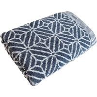 framsohn frottier Duschtuch Design Rauten (1-St), mit mehrfarbig gewebtem Saum grau