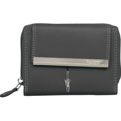 DrachenLeder Geldbörse OPR704K DrachenLeder Damen Portemonnaie, (Portemonnaie), Damen Portemonnaie Leder, grau