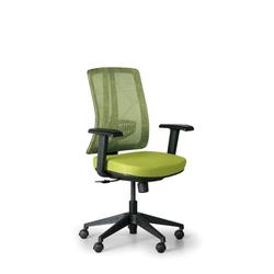 Bürostuhl human, schwarz/grün, kunststoffkreuz