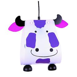 Pendelleuchte Kuh Deckenleuchten lila/weiß
