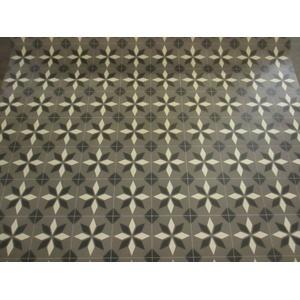 PVC (9€/m2) CV Bodenbelag Retro Tex Fliesen Design 2 Meter breite Grey