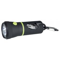 LED Lampe mit Hundekotbeutel-Spender