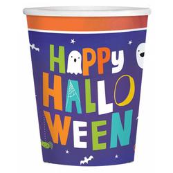 Amscan Dekofigur 8 Stück Happy Halloween Becher als Partygeschirr