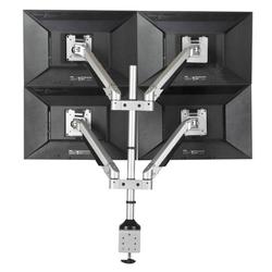Monitorhalter hinten der tischplatte, 4 monitoren