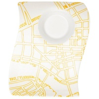 Villeroy & Boch Tafelservice Villeroy & Boch 1x NewWave Cafè New York Partyplate klein (17x13 cm (1-tlg), Porzellan