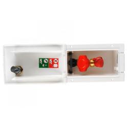 MPK Gasanschlussdose mit Schnellschlussventil weiß mit Schloss