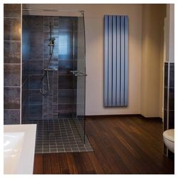 HOME DELUXE Heizkörper Design Ember einlagig, Qualitätsstahl mit hoher Wärmeleitfähigkeit grau 180.00 cm x 35.6 cm x 6.0 cm