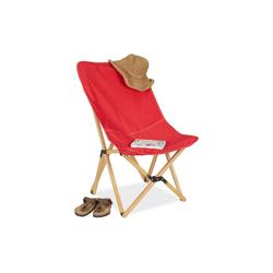relaxdays Klappstuhl Holz Liegestuhl klappbar rot rot