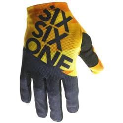SixSixOne MTB-Handschuhe Raji Geo Blue Orange