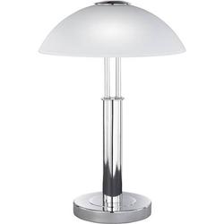 WOFI Prescot 8747.02.01.0000 Tischlampe Halogen, Energiesparlampe E14 80W Chrom