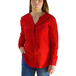 Posh Gear Seidenbluse Damen Seidenbluse Nobicetta Bluse aus 100% Seide rot L (40)