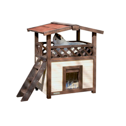 Winterfestes Katzenhaus 4 Seasons Deluxe optional beheizbar, 88x57x77 cm