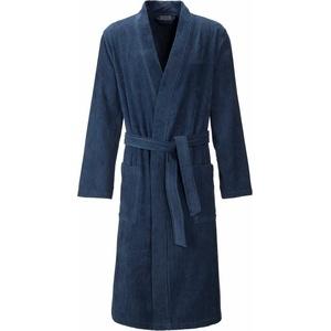 Herrenbademantel Adam, Egeria, mit aufgesetzten Taschen blau L - 125 cm