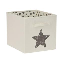 """STORE IT! Aufbewahrungsbox Aufbewahrungsbox """"Stern"""", 32x32x38 cm weiß"""