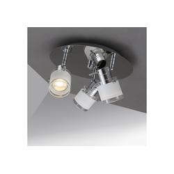 B.K.Licht LED Deckenleuchte, LED Bad Deckenlampe Design Deckenstrahler schwenkbar GU10 IP44 Badezimmer