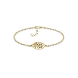 Elli Armband Lebensblume 925 Sterling Silber, Lebensblume goldfarben