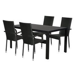 ebuy24 Essgruppe Cult Gartenmöbel Set 1 Tisch und 4 Stühle.