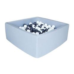knorr® toys Bällebad soft - Grey eckig inklusive 100 Bälle grey/white