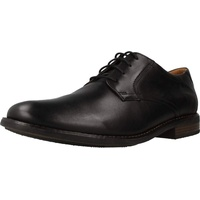 CLARKS Becken Lace Brogues, Schwarz Black Leather, 42.5