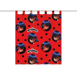 Vorhang Miraculous, Miraculous rot Übergardinen Gardinen Vorhänge