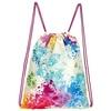 Moses moses. Rucksack Farbkleckse, Faltbarer Backpack, umweltfreundlich, wiederverwendbar Turnbeutel, 42 cm, Mehrfarbig