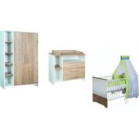 Schardt Kinderzimmer Eco Plus 3-tlg. mit 2-türigem Schrank