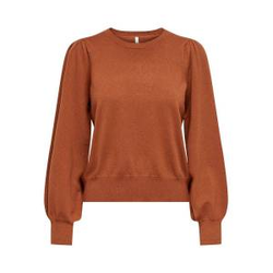 ONLY Puffärmel Sweatshirt Damen Rot Female XL