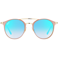 Ray Ban RB3546 49mm light brown-gold / blue gradient flash