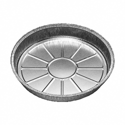 ALU Grill-, Back- und Servierteller rund, 600 ml, 195x25mm,  10 Stk.
