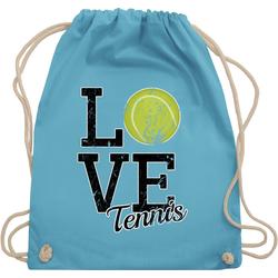 Shirtracer Turnbeutel Love Tennis - Tennis - Turnbeutel blau