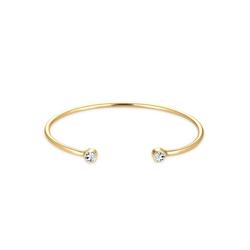 Elli Armreif Armreif Trend Swarovski® Kristalle 925 Silber goldfarben