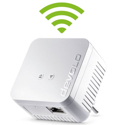 DEVOLO Powerline + WLAN, 1xLAN, WLAN, Slim-Design) LAN-Router, dLAN 550 WiFi (500Mbit