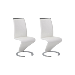 Stuhl Freischwinger 2er-Set Twizy - Weiß