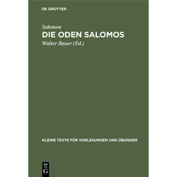 Die Oden Salomos als Buch von Salomon