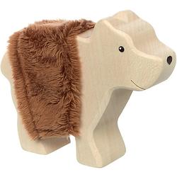 Holztier Bär (39508) holzfarben