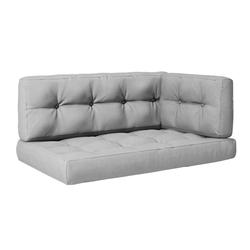 Vicco Palettenkissen Palettenkissen-Set Sitzkissen Rückenkissen Seitenkissen 15 cm hoch Palettenmöbel grau