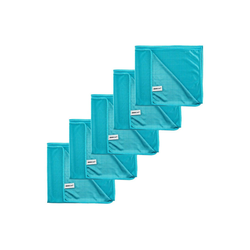 Kochblume Geschirrtuch Poliertuch 50 x 60 cm, (Spar-Set, 5-tlg), 280g/qm Qualtität blau