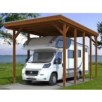 SKANHOLZ Friesland Caravan 3,97 x 7,08 m nussbaum inkl. Alu-Dachplatten