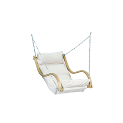 Wooden Garden Swing Chair with Cream Cushion - Chair Only - Amazonas