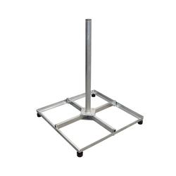 PremiumX Balkonständer Stahl 4 X 30 X 30 TWD Holland mit Mast / Sat Flachdachständer für Satellitenschüssel SAT-Halterung