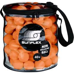 Sunflex Tischtennisball Balltasche inkl. 144 Tischtennisbälle 40+ orange