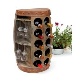 DanDiBo Weinregal Weinregal Weinfass 1547 Beistelltisch Schrank Fass aus Holz 65cm Weinbar Bar Wandtisch Flaschenregal