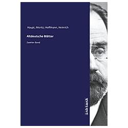 Altdeutsche Blätter. Moritz Haupt  - Buch